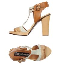 Juicy Couture | Natural Sandals | Lyst