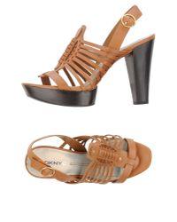 DKNY   Brown Sandals   Lyst