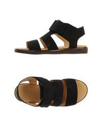 MM6 by Maison Martin Margiela - Black Sandals - Lyst