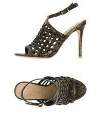 Lola Cruz - Metallic Sandals - Lyst