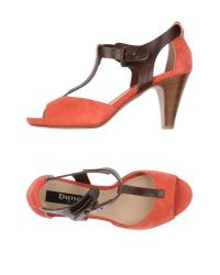 Dune Black - Red Sandals - Lyst