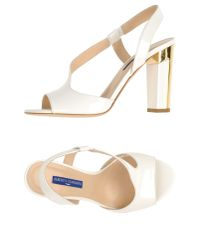 Alberto Guardiani - White Sandals - Lyst