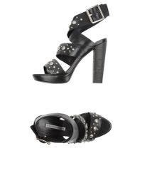 Vera Wang Lavender | Black Sandals | Lyst
