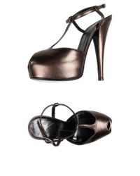 Giuseppe Zanotti - Brown Strappy Leather Sandals - Lyst