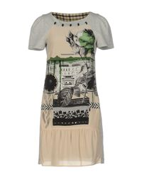 Pianurastudio - Gray Short Dress - Lyst