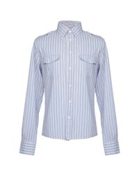 P.A.R.O.S.H. Blue Shirt for men