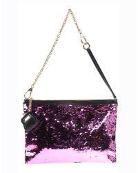 Dolce & Gabbana - Multicolor Lace Pouchette Chain Clutch - Lyst