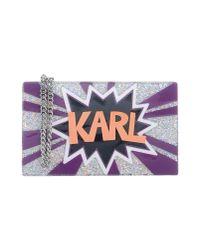 Karl Lagerfeld - Purple Handbag - Lyst