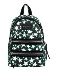 Marc Jacobs   Black Flocked Stars Printed Biker Backpack   Lyst