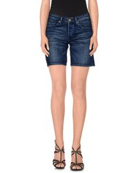 7 For All Mankind - Blue Denim Shorts - Lyst