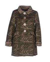 Charlott - Green Overcoat - Lyst