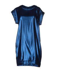 Mauro Grifoni - Blue Short Dress - Lyst