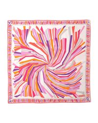 Emilio Pucci - Pink Square Scarf - Lyst