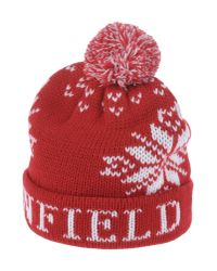 Penfield | Red Dumont Bobble Hat for Men | Lyst
