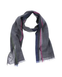 Paul Smith - Gray Oblong Scarf - Lyst