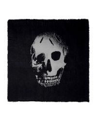 Alexander McQueen | Black Burnout Skull-printed Scarf for Men | Lyst