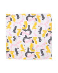 Jil Sander - Pink Square Scarf for Men - Lyst