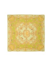 Versace - Green Square Scarf - Lyst