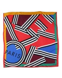 KENZO - Red Square Scarf - Lyst