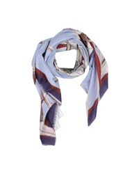 D-due | Blue Square Scarf | Lyst