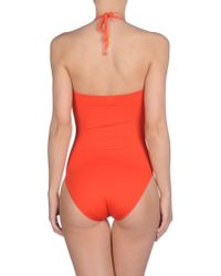 Bronzette | Orange One-piece Swimsuit | Lyst