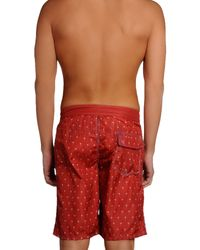 Replay - Red Swimming Trunks for Men - Lyst