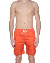 DSquared² - Orange Swim Trunks for Men - Lyst