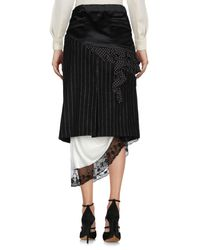Facetasm - Black 3/4 Length Skirts - Lyst