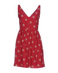 RED Valentino | Red Short Dress | Lyst