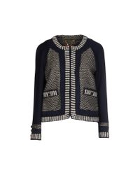 Tory Burch | Blue Leandra Cottonblend and Stretchwool Jacket | Lyst