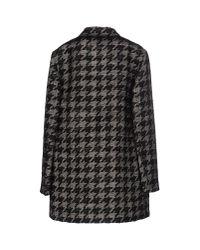 Lanvin - Black Round Neck Jacket - Lyst