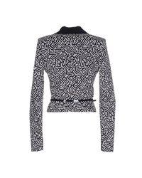 Patrizia Pepe - Black Blazer Jacket 1 Button Jaquard Lapels Satin - Lyst