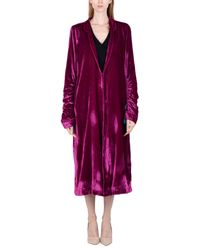 Free People - Purple Overcoat - Lyst