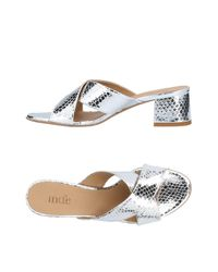 Manufacture D'essai Metallic Sandals