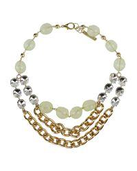 Angelo Marani - Metallic Necklace - Lyst