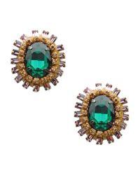 Deepa Gurnani | Green Earrings | Lyst