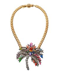 Shourouk - Orange Necklace - Lyst