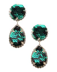 Shourouk - Green Earrings - Lyst