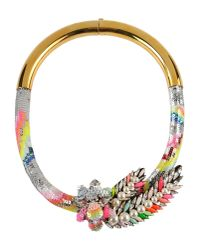 Shourouk | Metallic Necklace | Lyst