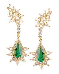 CZ by Kenneth Jay Lane - Green Earrings - Lyst