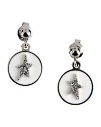 Thierry Mugler White Earrings
