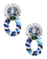 Shourouk - Blue Earrings - Lyst