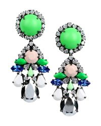 Shourouk | Green Suma Earrings | Lyst