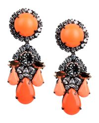 Shourouk | Orange Earrings | Lyst