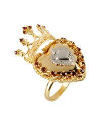 Dolce & Gabbana - Metallic Ring - Lyst