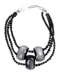 Giorgio Armani | Black Necklace | Lyst