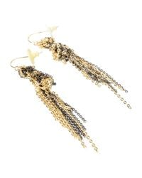 Gemma Redux | Metallic Gold and Gunmetalplated Earrings | Lyst
