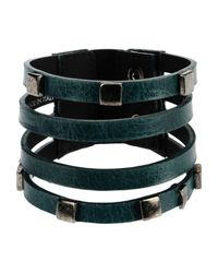 Oblique - Green Bracelet - Lyst