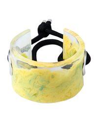 MM6 by Maison Martin Margiela - Yellow Bracelet - Lyst
