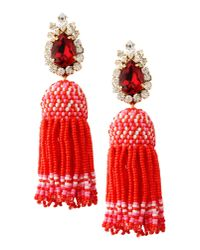 Shourouk - Red Earrings - Lyst